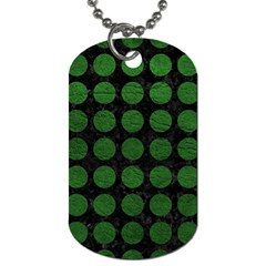 Circles1 Black Marble & Green Leather Dog Tag (two Sides)