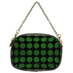 Circles1 Black Marble & Green Leather Chain Purses (one Side)