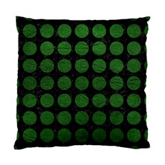 Circles1 Black Marble & Green Leather Standard Cushion Case (two Sides)