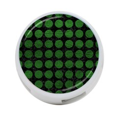 Circles1 Black Marble & Green Leather 4 Port Usb Hub (one Side)
