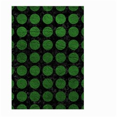 Circles1 Black Marble & Green Leather Large Garden Flag (two Sides)