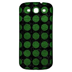 Circles1 Black Marble & Green Leather Samsung Galaxy S3 S Iii Classic Hardshell Back Case
