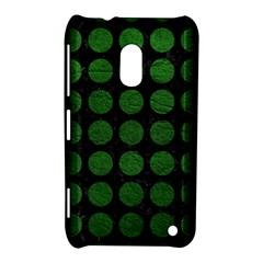 Circles1 Black Marble & Green Leather Nokia Lumia 620