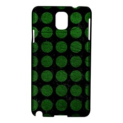 Circles1 Black Marble & Green Leather Samsung Galaxy Note 3 N9005 Hardshell Case