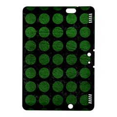 Circles1 Black Marble & Green Leather Kindle Fire Hdx 8 9  Hardshell Case