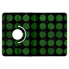 Circles1 Black Marble & Green Leather Kindle Fire Hdx Flip 360 Case