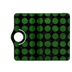 Circles1 Black Marble & Green Leather Kindle Fire Hdx 8 9  Flip 360 Case