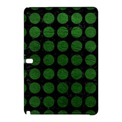 Circles1 Black Marble & Green Leather Samsung Galaxy Tab Pro 12 2 Hardshell Case