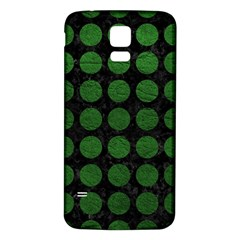 Circles1 Black Marble & Green Leather Samsung Galaxy S5 Back Case (white)