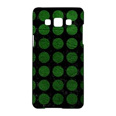 Circles1 Black Marble & Green Leather Samsung Galaxy A5 Hardshell Case