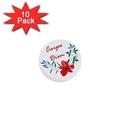 Carpe Diem  1  Mini Buttons (10 Pack)