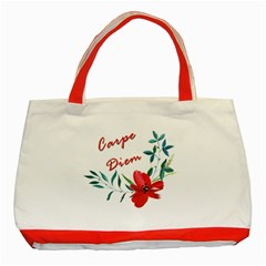 Carpe Diem  Classic Tote Bag (red)