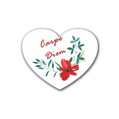 Carpe Diem  Heart Coaster (4 Pack)