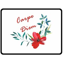 Carpe Diem  Double Sided Fleece Blanket (large)
