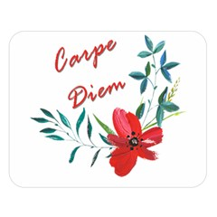 Carpe Diem  Double Sided Flano Blanket (large)