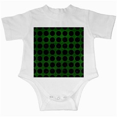 Circles1 Black Marble & Green Leather (r) Infant Creepers