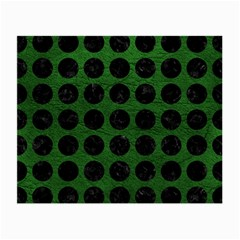 Circles1 Black Marble & Green Leather (r) Small Glasses Cloth (2 Side)