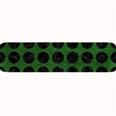 Circles1 Black Marble & Green Leather (r) Large Bar Mats