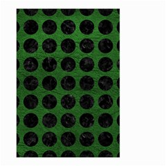 Circles1 Black Marble & Green Leather (r) Small Garden Flag (two Sides)