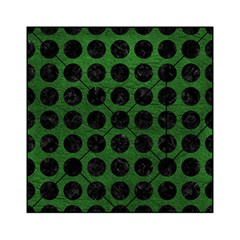 Circles1 Black Marble & Green Leather (r) Acrylic Tangram Puzzle (6  X 6 )