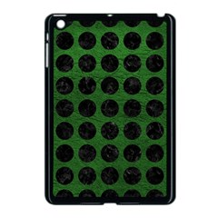 Circles1 Black Marble & Green Leather (r) Apple Ipad Mini Case (black)