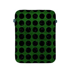 Circles1 Black Marble & Green Leather (r) Apple Ipad 2/3/4 Protective Soft Cases