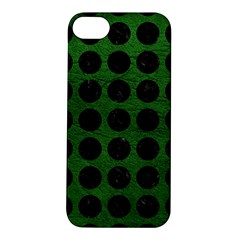 Circles1 Black Marble & Green Leather (r) Apple Iphone 5s/ Se Hardshell Case
