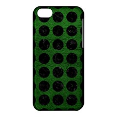 Circles1 Black Marble & Green Leather (r) Apple Iphone 5c Hardshell Case