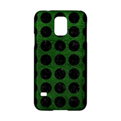 Circles1 Black Marble & Green Leather (r) Samsung Galaxy S5 Hardshell Case