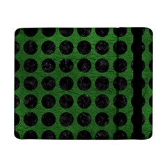 Circles1 Black Marble & Green Leather (r) Samsung Galaxy Tab Pro 8 4  Flip Case