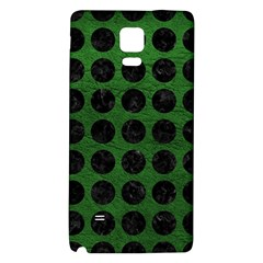Circles1 Black Marble & Green Leather (r) Galaxy Note 4 Back Case