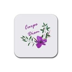 Carpe Diem  Rubber Square Coaster (4 Pack)