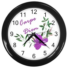 Carpe Diem  Wall Clocks (black)
