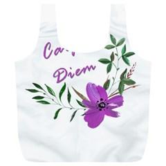 Carpe Diem  Full Print Recycle Bags (l)