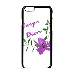 Carpe Diem  Apple Iphone 6/6s Black Enamel Case