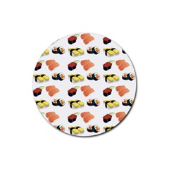 Sushi Pattern Rubber Coaster (round)