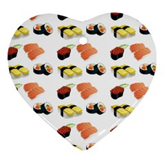 Sushi Pattern Heart Ornament (two Sides)