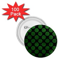 Circles2 Black Marble & Green Leather 1 75  Buttons (100 Pack)