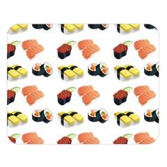 Sushi Pattern Double Sided Flano Blanket (large)