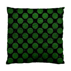 Circles2 Black Marble & Green Leather Standard Cushion Case (one Side)