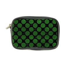 Circles2 Black Marble & Green Leather Coin Purse