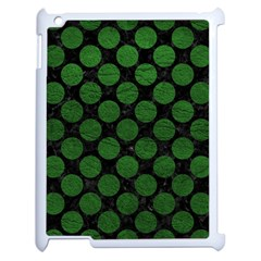 Circles2 Black Marble & Green Leather Apple Ipad 2 Case (white)
