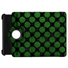 Circles2 Black Marble & Green Leather Kindle Fire Hd 7