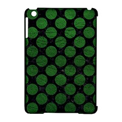 Circles2 Black Marble & Green Leather Apple Ipad Mini Hardshell Case (compatible With Smart Cover)
