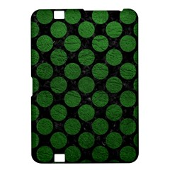 Circles2 Black Marble & Green Leather Kindle Fire Hd 8 9