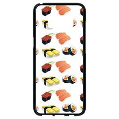 Sushi Pattern Samsung Galaxy S8 Black Seamless Case
