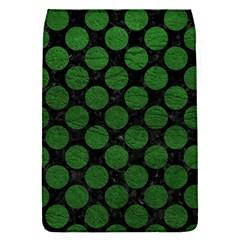 Circles2 Black Marble & Green Leather Flap Covers (s)