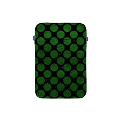 Circles2 Black Marble & Green Leather Apple Ipad Mini Protective Soft Cases