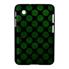 Circles2 Black Marble & Green Leather Samsung Galaxy Tab 2 (7 ) P3100 Hardshell Case
