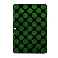 Circles2 Black Marble & Green Leather Samsung Galaxy Tab 2 (10 1 ) P5100 Hardshell Case